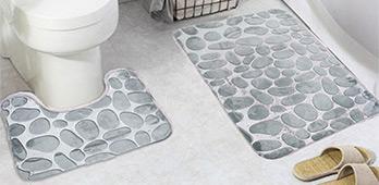 Снижение цен на коврики для ванной из 2 и 3 предметов