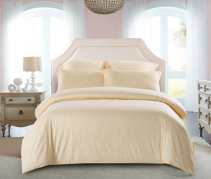 Комплект постельного белья Lotus Home сатин страйп Krem
