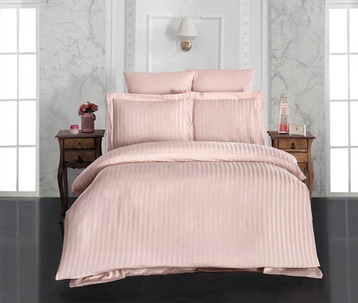 Комплект постельного белья Lotus Home сатин страйп Pink