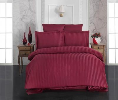 Комплект постельного белья Lotus Home сатин страйп Red