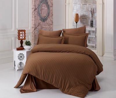 Комплект постельного белья Lotus Home сатин страйп Brown