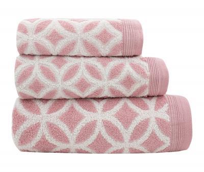 Полотенце махровое Китай 470 гр THBZ0083 Розовый
