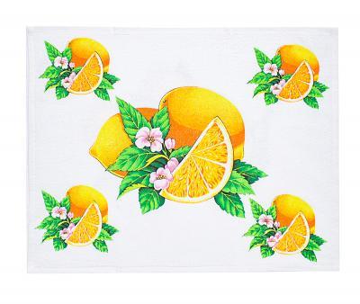 Полотенце кухонное махра/велюр Лимоны