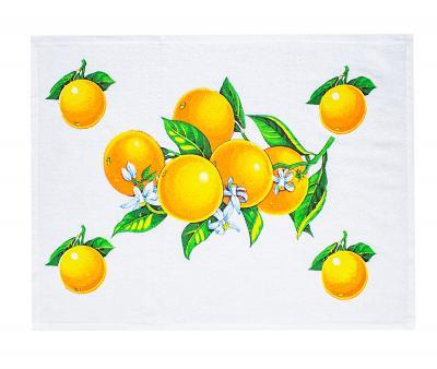 Полотенце кухонное махра/велюр Мандарины