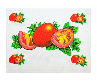 Полотенце кухонное махра/велюр Томаты