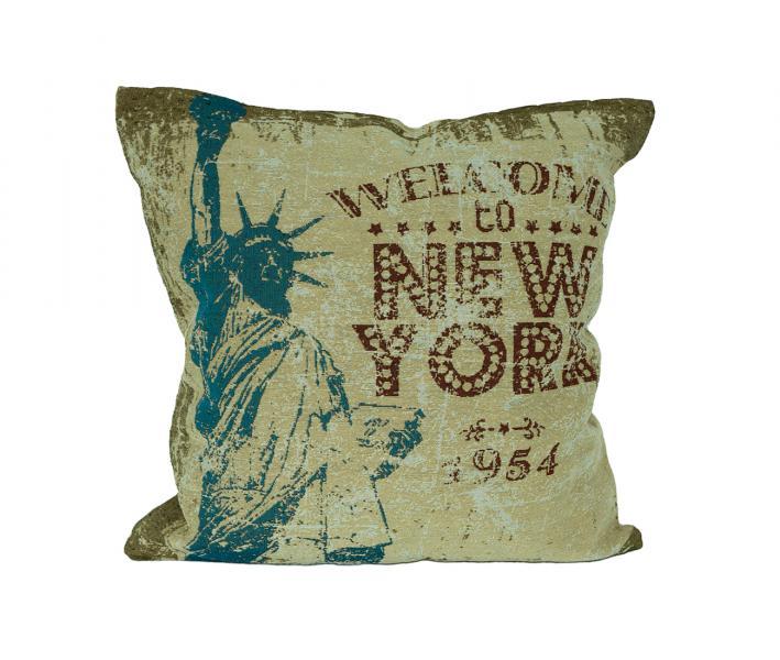 Наволочка декоративная принт New York