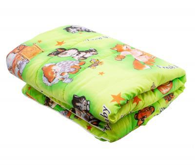 Одеяло детское 100х140 200гр Время сна Зеленое Бязь