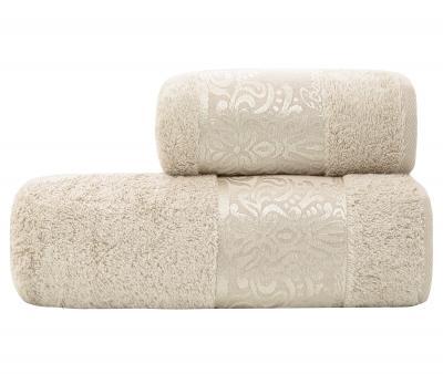 Полотенце махровое Турция 600 гр Бамбук Коллекшен Молочный