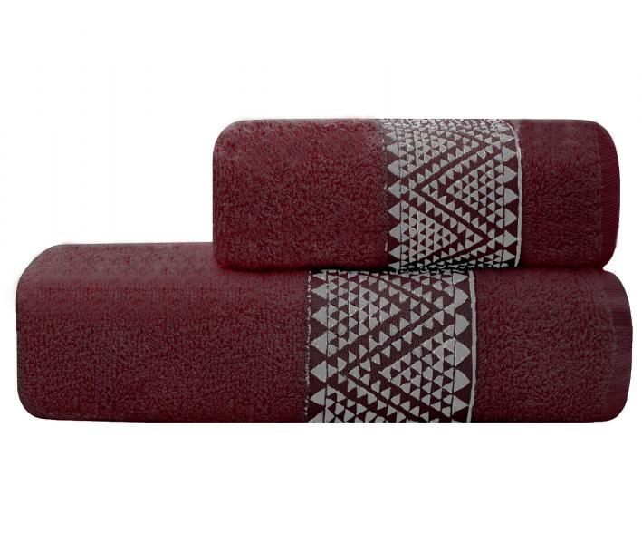 Полотенце Lael Towel Треугольники Бордовый