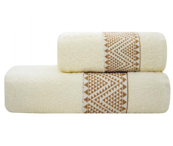 Полотенце Lael Towel Треугольники Молочный