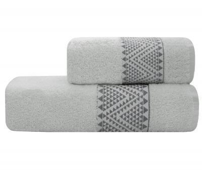 Полотенце Lael Towel Треугольники Серый Светлый
