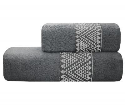 Полотенце Lael Towel Треугольники Серый Темный