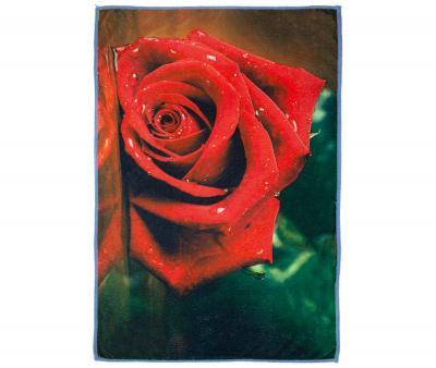 Полотенце кухонное микрофибра активная печать 38х65 см Красная Роза