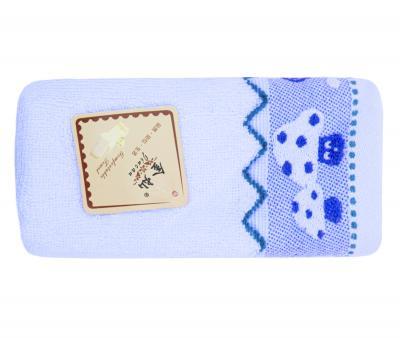 Полотенце детское махровое 25х50 Грибочки Голубое