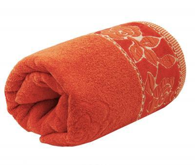 Полотенце махровое Турция 480 гр Дорук Золотые Розы Красный