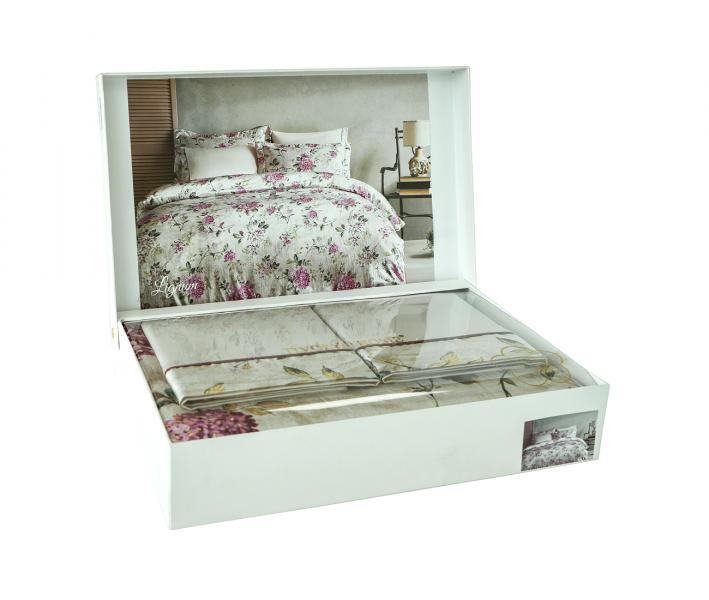 Комплект постельного белья Tivolyo Home Евро Шёлк Lignum