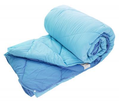 Одеяло двойное с кнопками Dophia Le Vele Голубое