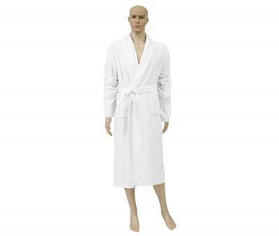 Мужской халат махровый Белый 380 гр Узбекистан