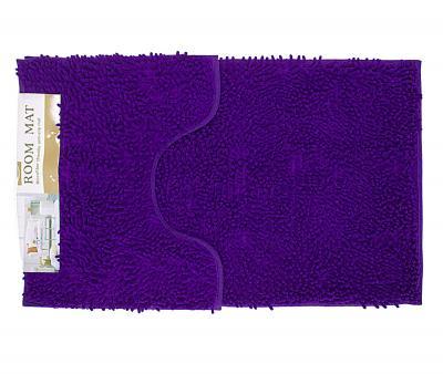 Набор ковриков лапша 2 шт 50*80+50*40 см Фиолетовый