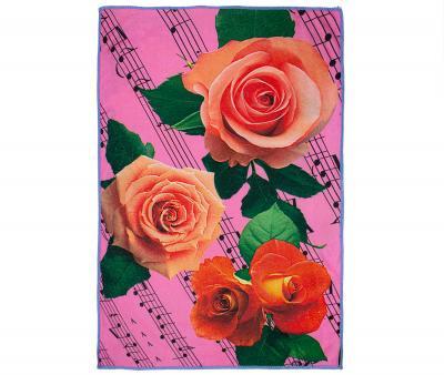 Полотенце кухонное микрофибра активная печать 38х65 см Музыкальные розы