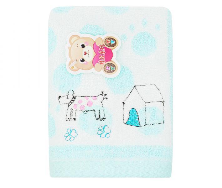Полотенце детское махровое 25х50  Верный друг Голубое