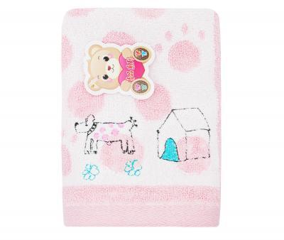 Полотенце детское махровое 25х50  Верный друг Розовое