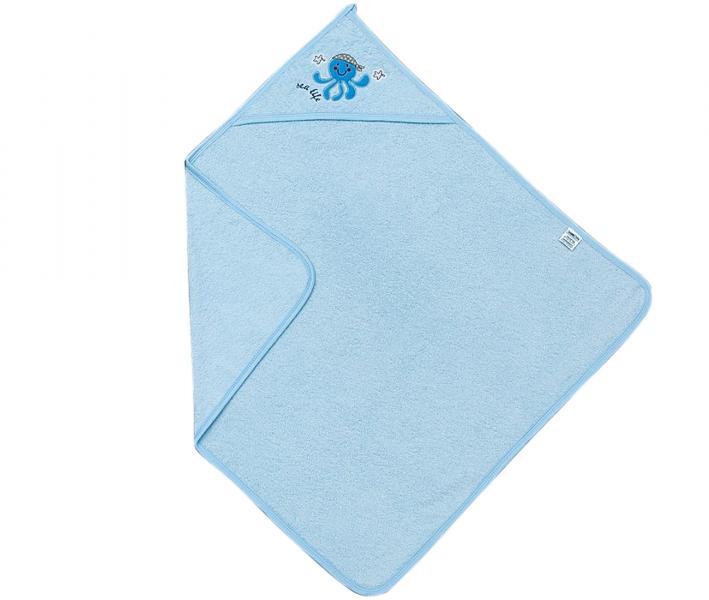 Полотенце детское с капюшоном Ramel 303 Синий осьминог