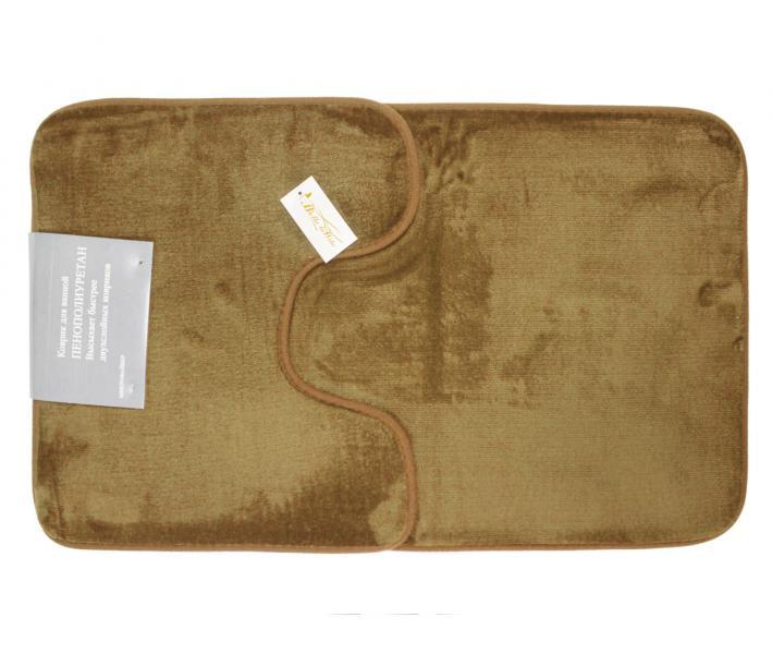 Набор ковриков для ванной 2 предмета Велюр Светло-коричневый