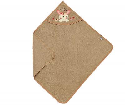 Полотенце детское с капюшоном Ramel Цветы кролик коричневый
