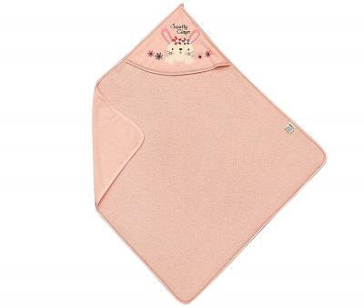 Полотенце детское с капюшоном Ramel Цветы кролик розовый