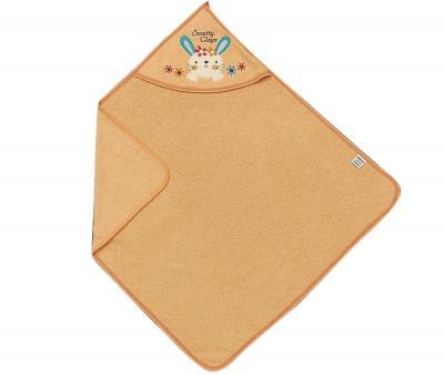 Полотенце детское с капюшоном Ramel Цветы кролик оранжевый