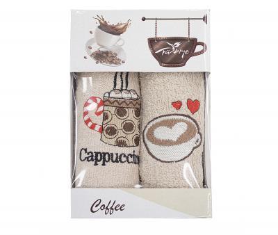 Салфетки 30х50см 2пр. Кофе/Фреш махровые Cappuccino Love