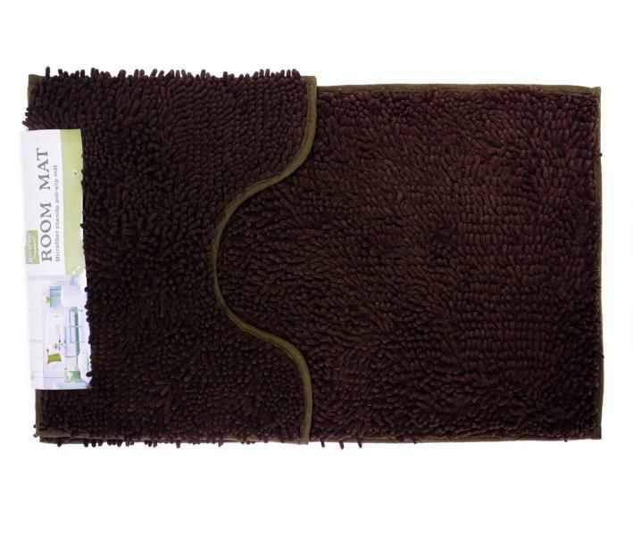 Набор ковриков лапша 2 шт 50*80+50*40 см Коричневый