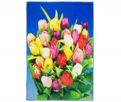 Полотенце кухонное микрофибра активная печать 38х65 см Букет тюльпанов