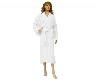 Женский халат махровый Белый 380 гр Узбекистан