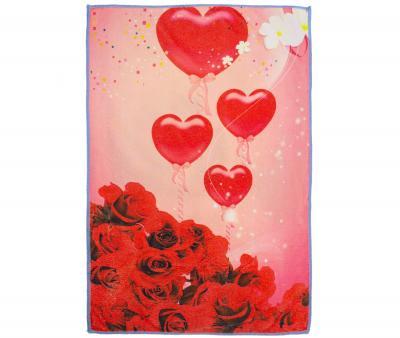 Полотенце кухонное микрофибра активная печать 38х65 см Розы Love