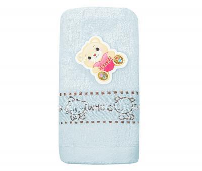 Полотенце детское махровое 25х50 Who's Dear Голубое