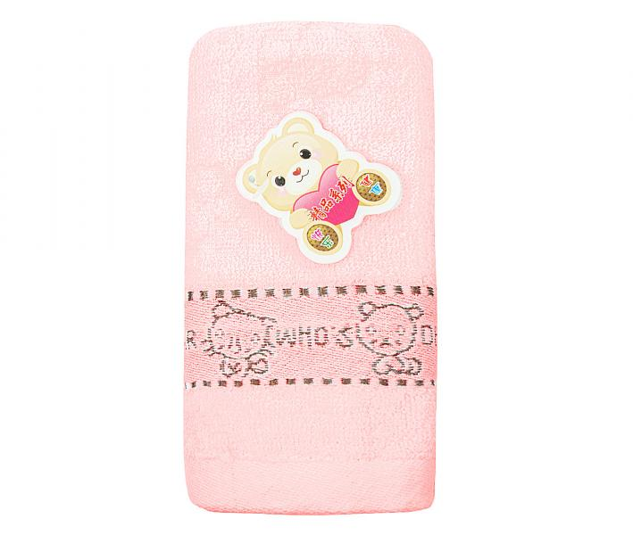 Полотенце детское махровое 25х50 Who's Dear Розовое