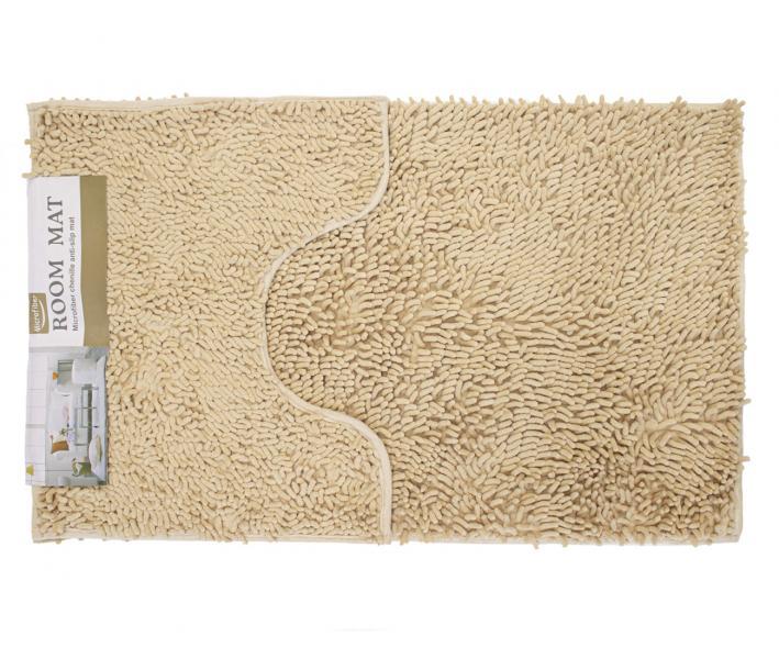 Набор ковриков лапша 2 шт 50*80+50*40 см Бежевый