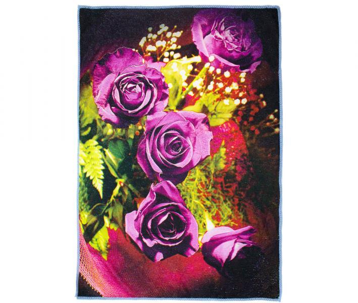 Полотенце кухонное микрофибра активная печать 38х65 см Сиреневые розы