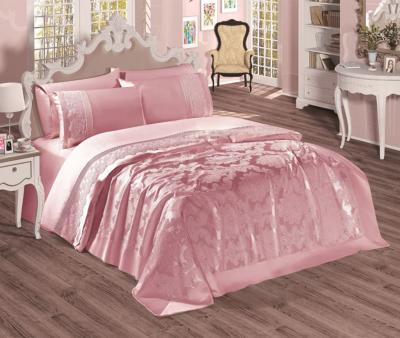 Комплект постельного белья Sekerbibi Pike Takimi + покрывало (6 предметов) Розовый