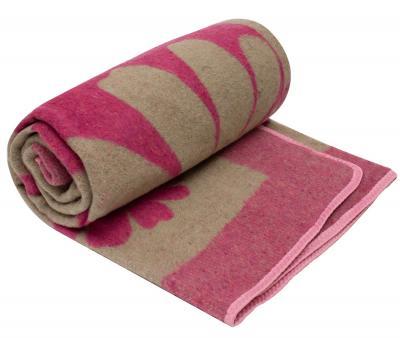 Одеяло Жаккард Цветы Розовый
