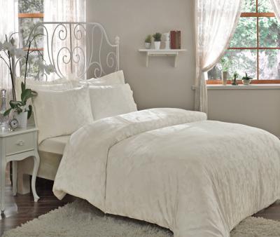 Комплект постельного белья Tivolyo Home Сатин жаккард Amelif Крем