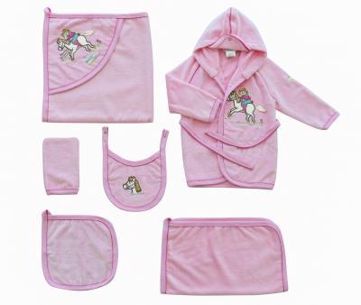Детский банный набор Ramel 6 предметов Розовый