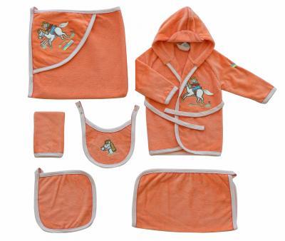 Детский банный набор Ramel 6 предметов Оранжевый