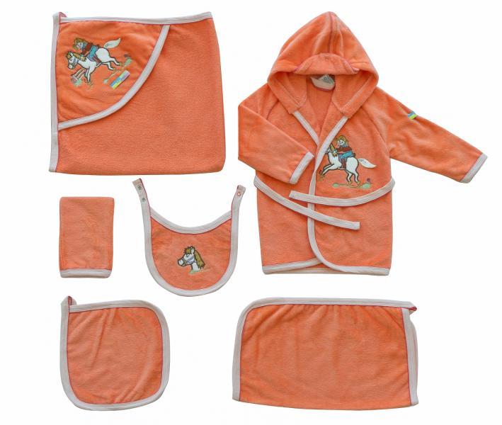 Детский банный набор Ramel 6 предметов 405 Оранжевый