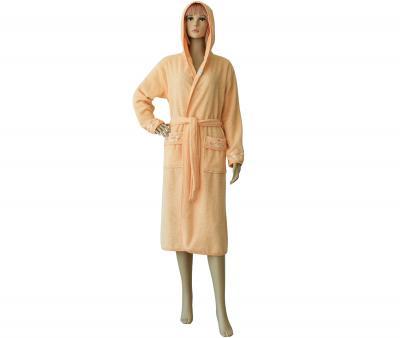 Халат женский длинный с капюшоном 431 Оранжевый