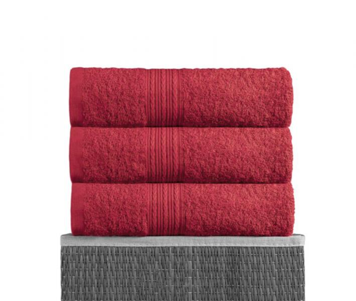 Полотенце махровое Байрамали Красный