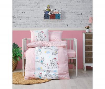 Комплект постельного белья детский Коттон Бокс в кроватку Bambi Pembe