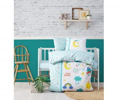 Комплект постельного белья детский Коттон Бокс в кроватку Tatli Ruyalar Mint
